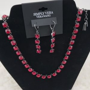 Simply Vera Vera Wang Ruby Necklace Earring Set